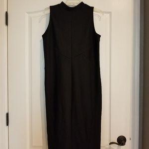 Mid-calf Black Dress